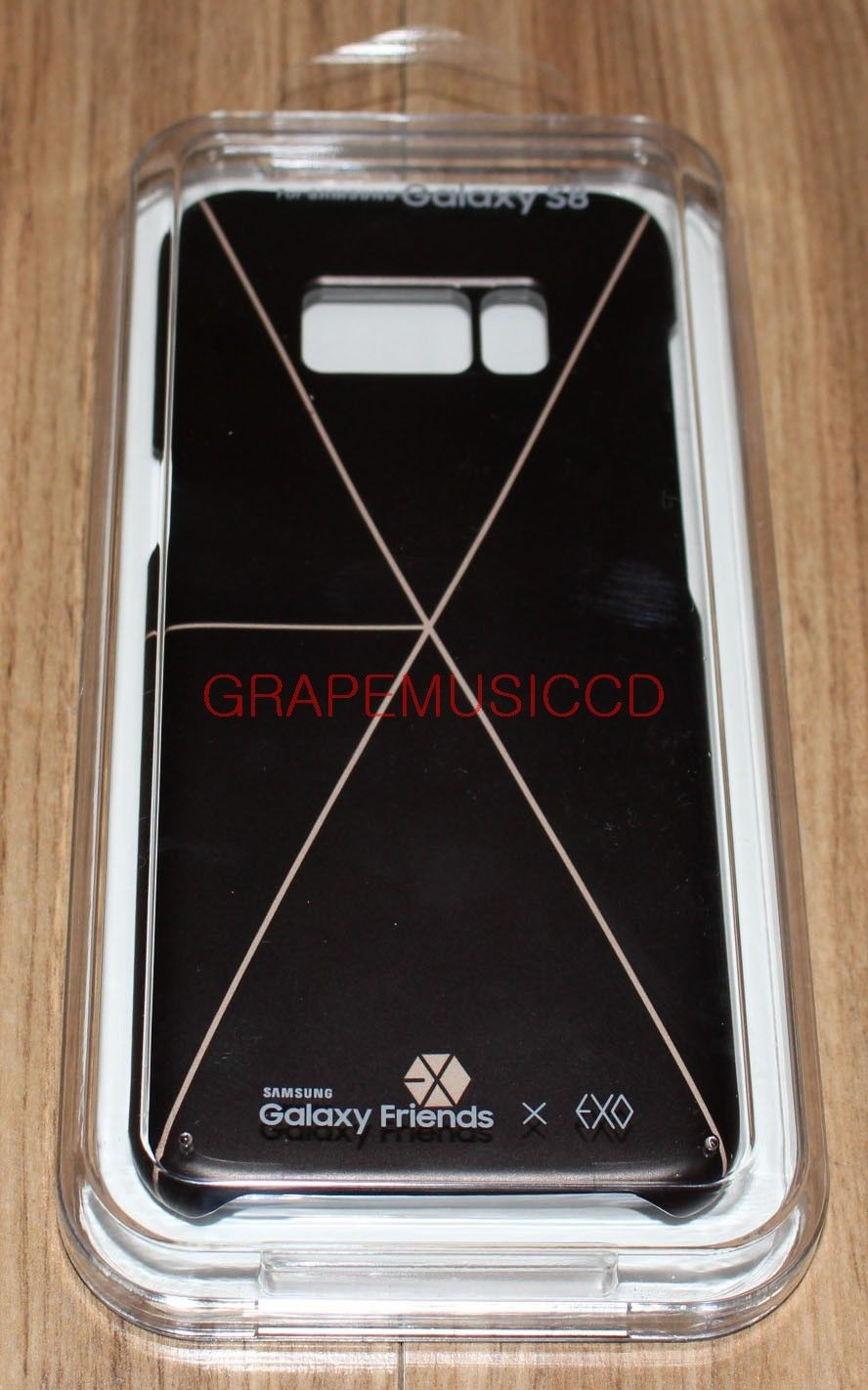 purchase cheap 145f8 6f84e EXO GALAXY FRIENDS X EXO Galaxy S8 SMART COVER BLACK + PHOTOCARD ...