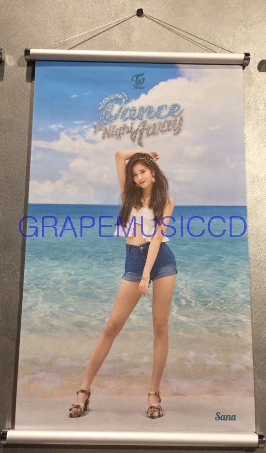 TWICE SUMMER POP-UP STORE OFFICIAL GOODS SANA SCROLL TAPESTRY NEW