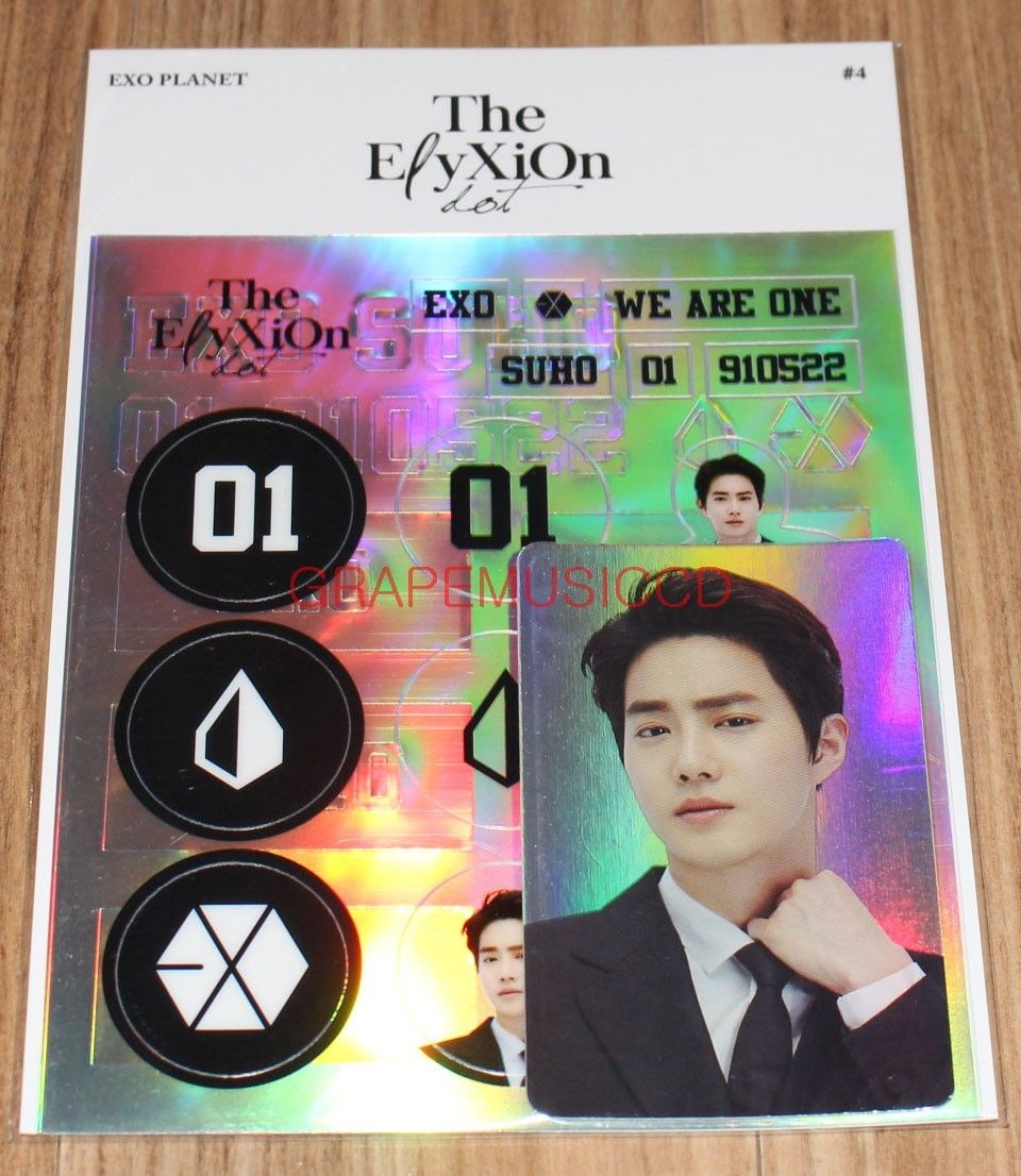 Exo Planet 4 The Elyxion Dot Official Goods Suho Deco Sticker