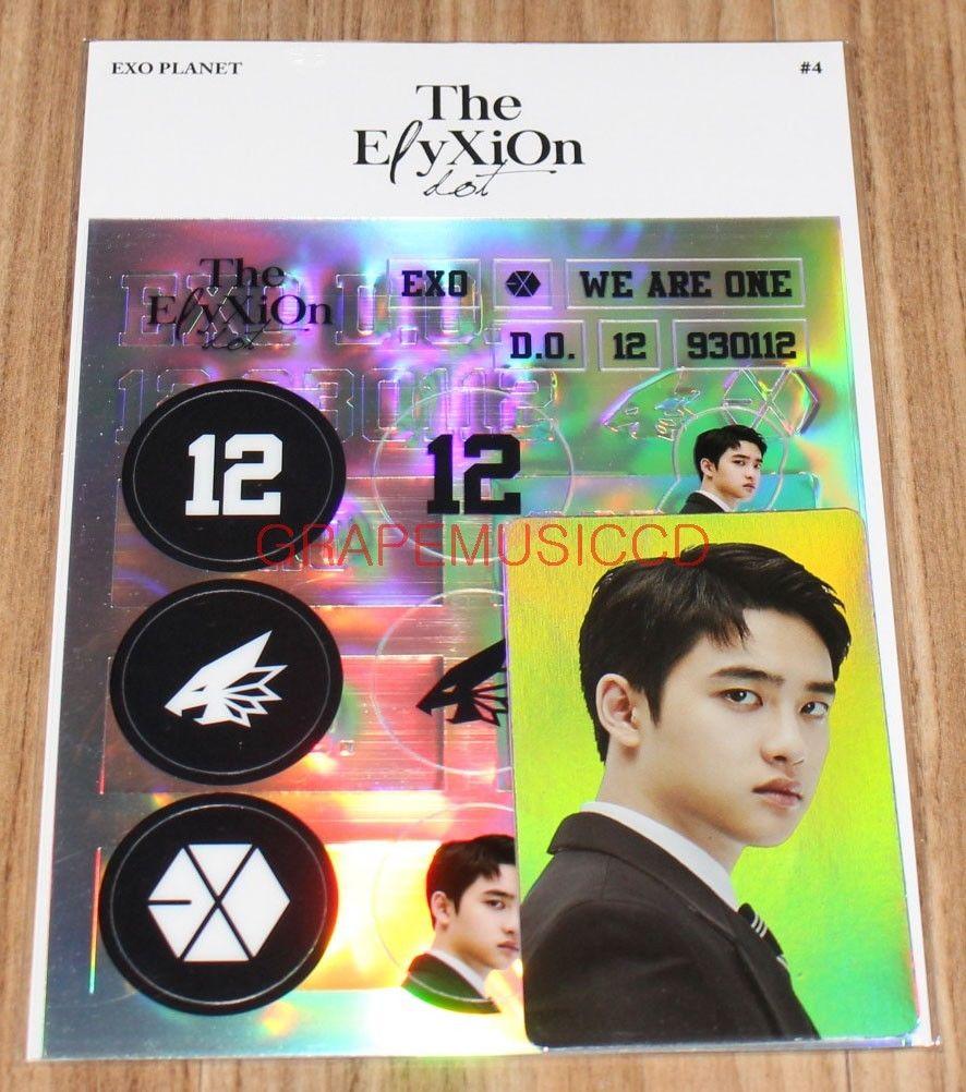Exo Planet 4 The Elyxion Dot Official Goods Do Deco Sticker