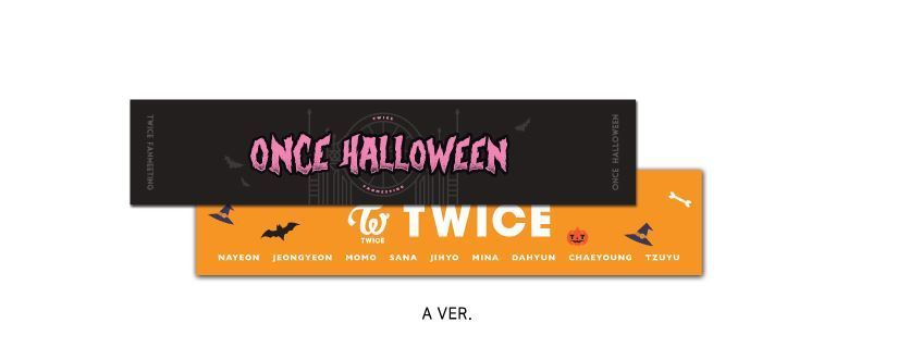 TWICE FANMEETING ONCE HALLOWEEN OFFICIAL GOODS Slogan Towel A Ver