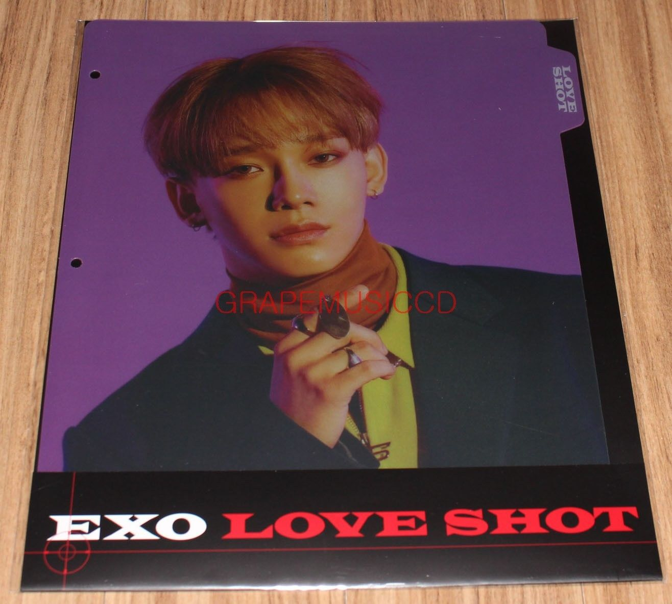 EXO LOVE SHOT SMTOWN GIFTSHOP OFFICIAL GOODS CHEN BINDER